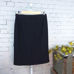 St. John Sparkle Knit Pull On Pencil Skirt Black 8